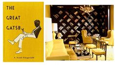 Google Image Result for http://www.clarkraedesign.com/blog/wp-content/uploads/2012/03/gatsby-yellow2.jpg #interior #design #yellow #book #black #cover #illustration #art #deco