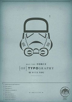 May the force of Typography be with you | Ubersuper #typography #star wars