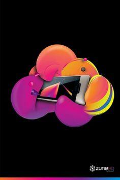 Gimme Bar | zune HD collateral - RAMIRO TORRES #illustration #color #liquid