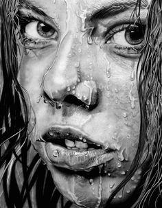 Paul Shanghai | PICDIT #drawing #art #black #white #portrait