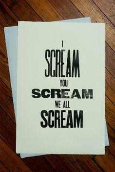 Ed Nacional #block #scream #wood #typography