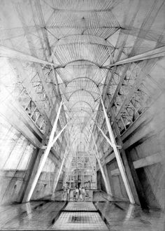CJWHO ™ (Architectural Drawings by Klara Ostaniewicz ...) #drawings #amazing #white #design #black #illustration #architecture #art #and