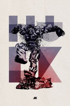 Heroes and Villains on the Behance Network #marvel #illustration #hulk #texture
