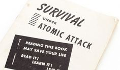 THEARTISTANDHISMODEL » Atomic Survival Book #type #retro #vintage