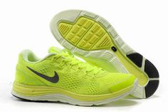 Mens Nike LunarGlide+ 4 Premium Fluorescent Green Shoes #shoes