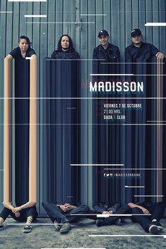 Madisson #rockband #poster #glitch #glitchart