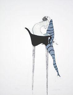 Die Strumpfe 1965 Paul Wunderlich #wunderlich #litograph #paul