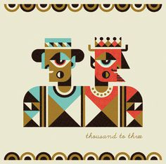 Ty Wilkins - Matuto #crown #thousand #geometric #devil #illustration #ty #hat #three #man #to #wilkins