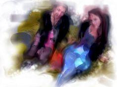 gotye12_Painting.JPEG 800×600 pixels #lycra #black #milk #catsuit #sisters