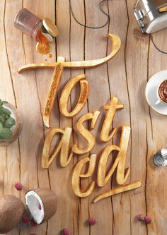 3D imagery world for Abelina Font #food #type #photography