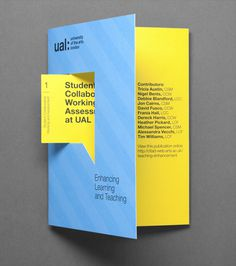 University of the Arts London #cut #print #die #brochure