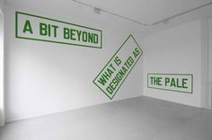 WM | whitehot magazine of contemporary art | March 2008, Lawrence Weiner and Florian Pumhosl @ Lisson Gallery