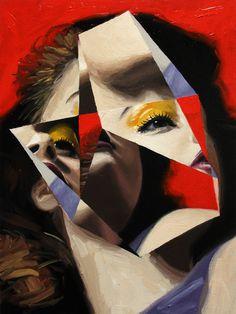 ∞ JEREMY OLSON ∞ #portrait #geometry #painting