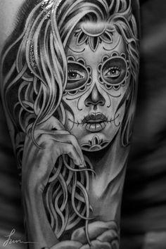 muertosrose_juncha1 #dia #cha #los #jun #de #sugar #tattoo #skull #muertos