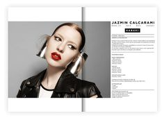 Jazmin Calcarami - makeup on Behance #branding #design #makeup #add #fashion