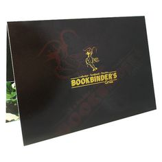 Bookbinder's Grill Restaurant Presentation Folder #inspirational #menu #design #presentation #book #restaurant #folder