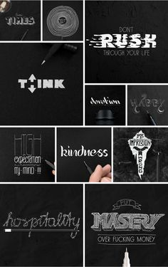 Typographic Artwork Illustrations