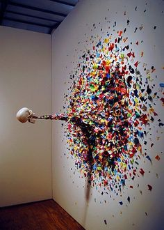 Miami-based Typoe created this insane piece earlier in the year titled Confetti Death #art #insane