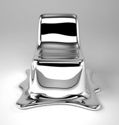 Core77 / industrial design magazine + resource / home #melt #chair #silver #glass #fiber