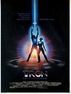 original-tron-poster.jpg (JPEG Image, 834x1100 pixels) #design #graphic #poster #film #typography