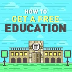 How can you get your education for free? Check out this infographic for more. #resources #education #online #free