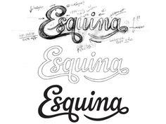 """Esquina"" logo - I like the script type #logo"