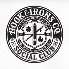 HI Social Club crest logo by Richie Stewart