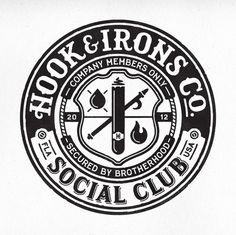 HI Social Club crest logo by Richie Stewart