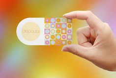 De Paula - Visual Identity on the Behance Network #pattern #business #card #candy #identity #cupcake