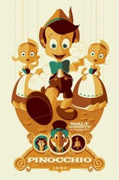 Mondo: The Archive | Tom Whalen - Pinocchio, 2011 #mondo #tom #illustration #disney #poster #whalen