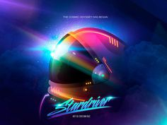 Stardriver by Cristian M. Ruiz Parra #helmet #retro #80s