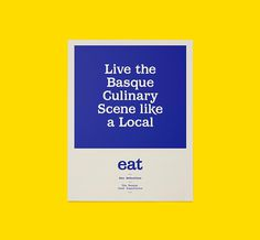 Eat San Sebastian by We are Rifle #brand design #print #stationery