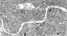 Hand-Drawn Maps of London: Where The Streets Have No Names | Londonist #london #map