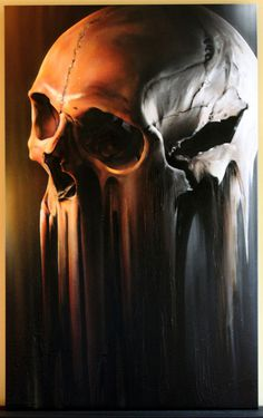 Designersgotoheaven.com Skull on Canvas by SmugOne. #skull