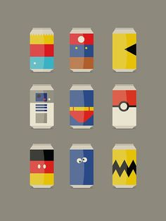 Dschwen LLC character cans #illustration #characters #cans