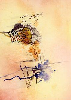 freethinker : sally elena milota #illustration #art