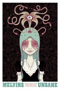 Printing Tara McPherson's Melvins poster | Burlesque of North America #screen #illustration #print