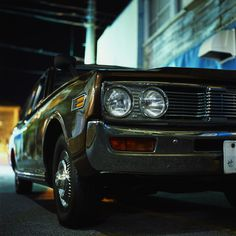 photo #nissan #retro #night #tokyo #vintage #chrome #car