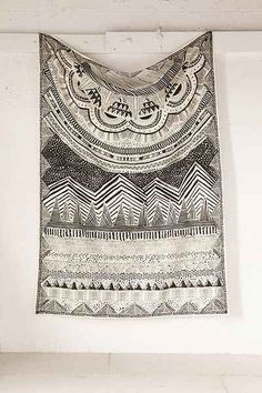 4040 Locust Altai Scratch Markings Tapestry, Urban Outfitters