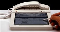 PhoneMac-StudiemitATT1984-1WTMK.jpg 478 × 257 Pixel #old #apple #white #phone #stylus #touch #display #screen #pen #mixed #new