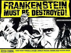 Frankenstein Must Be Destroyed Movie Poster #movie #frankenstein #70s #cinema #poster #1970