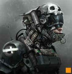 Dryrun by fightpunch on deviantART #fi #skull #helmet #sci