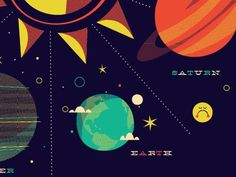 Dribbble - Solar System Tee by Brent Couchman