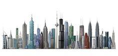 week32skyscrapers4.jpg (JPEG Image, 1080x521 pixels) #skyscrapers #architecture #tallest #buildings