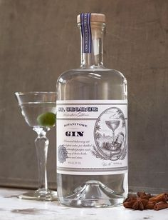 St. George Gins - TheDieline.com - Package Design Blog #packaging #illustration #typography