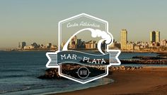 ~MDQ~ | Flickr: Intercambio de fotos #logo #beach #sea #wave #argentina #badges #labels