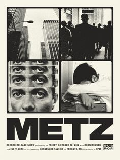 Metz #print #design #graphic #photography #poster #band #concert #typography