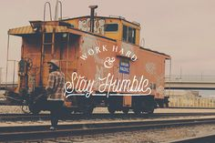 Work Hard & Stay Humble #lettering #typography