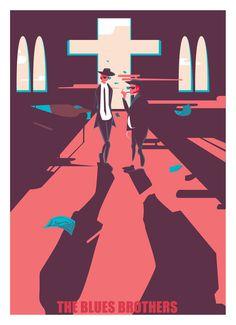 Gheleyne Bastiaen - The blues brothers #poster #vector #illustration