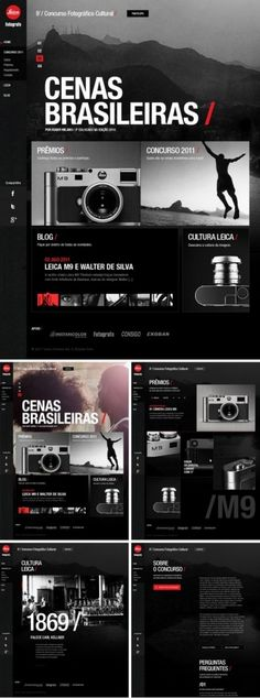 a40bb6845f75360ed968d19e11225aec.jpg (600×1612) #big #leica #webdesign #web #layout #dark #typography